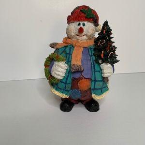 Other - Snowman holding Christmas tree & Wreath Decor
